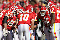 Chiefs QB Trent Green is back in the huddle for the game with the Oakland Raiders at Arrowhead Stadium in Kansas City, Missouri on November 19, 2006. The Chiefs won 17-13.