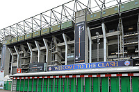 A general view of Clash branding outside Twickenham Stadium. The Clash, Aviva Premiership match, between Bath Rugby and Leicester Tigers on April 7, 2018 at Twickenham Stadium in London, England. Photo by: Rob Munro for Onside Images