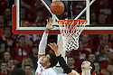 March 9, 2014: Shavon Shields (31) of the Nebraska Cornhuskers with a lay up against Frank Kaminsky (44) of the Wisconsin Badgers during the first half at the Pinnacle Bank Arena, Lincoln, NE. Nebraska 77 Wisconsin 68.
