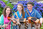 Ballydonoghue musicians playing a tune at the Fleadh Cheoil na Mumhan in Killarney on Saturday l-r: Aisling madden, Edel Quinn and Sean Cremin