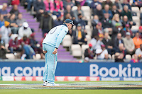 Jason Roy (England) pulled up chasing the ball with what appeared to be a hamstring issue during England vs West Indies, ICC World Cup Cricket at the Hampshire Bowl on 14th June 2019