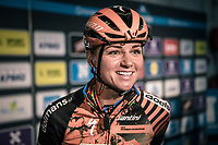 Chantal Blaak (NED/Boels Dolmans CT) pre race<br /> <br /> 12th Women's Omloop Het Nieuwsblad 2020 (BEL)<br /> Women's Elite Race <br /> Gent – Ninove: 123km<br /> <br /> ©kramon