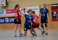 Megan Grote (Walldorf) setzt sich durch - Mörfelden-Walldorf 09.02.2020: TGS Walldorf vs. TGB Darmstadt, Sporthalle
