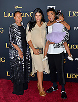 "LOS ANGELES, USA. July 10, 2019: Chance the Rapper, Kirsten Corley, Lisa Bennett & Kensli Bennett at the world premiere of Disney's ""The Lion King"" at the Dolby Theatre.<br /> Picture: Paul Smith/Featureflash"
