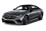 2019 Mercedes Benz E-Class AMG-E53 2 Door Coupe Angular Front automotive stock photos of front three quarter view