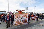 Blackpool fans hold a protest against club owner Karl Oyston - Blackpool vs. Nottingham Forest - Skybet Championship - Bloomfield Road - Blackpool - 14/02/2015 Pic Philip Oldham/Sportimage