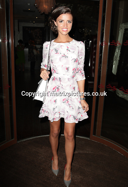 NON EXCLUSIVE PICTURE: MATRIXPICTURES.CO.UK<br /> PLEASE CREDIT ALL USES<br /> <br /> WORLD RIGHTS<br /> <br /> TOWIE reality TV star Lucy Mecklenburgh attending the Easilocks launch party at London's Sanctum Hotel.<br /> <br /> JULY 9th 2013<br /> <br /> REF: GBH 134704