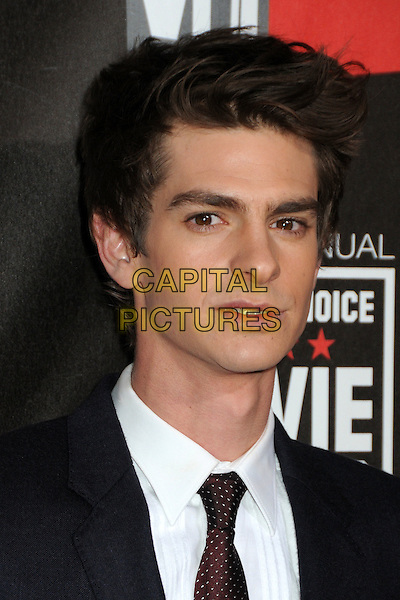 ANDREW GARFIELD .at The16th Annual Critics' Choice Movie Awards held at The Hollywood Palladium in Hollywood, California, USA, January 14th, 2011..portrait headshot white shirt maroon tie black red .CAP/ADM/BP.©Byron Purvis/AdMedia/Capital Pictures.