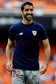 1st October 2017, Mestalla, Valencia, Spain; La Liga football, Valencia CF versus Athletic Bilbao; Raul Garcia of Athletic Club de Bilbao smiles prior to the game;
