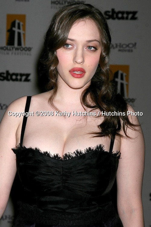 Kat Dennings arriving to the Hollywood Film Festival Awards Gala at the Beverly Hilton Hotel in Beverly Hills, CA  on.October 27, 2008.©2008 Kathy Hutchins / Hutchins Photo...                .