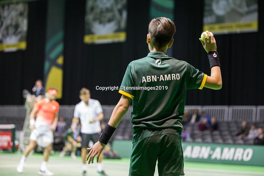 Rotterdam, Netherlands, 9 februari, 2019, Ahoy, Tennis, ABNAMROWTT,  BALLKID Photo: Henk Koster/tennisimages.com