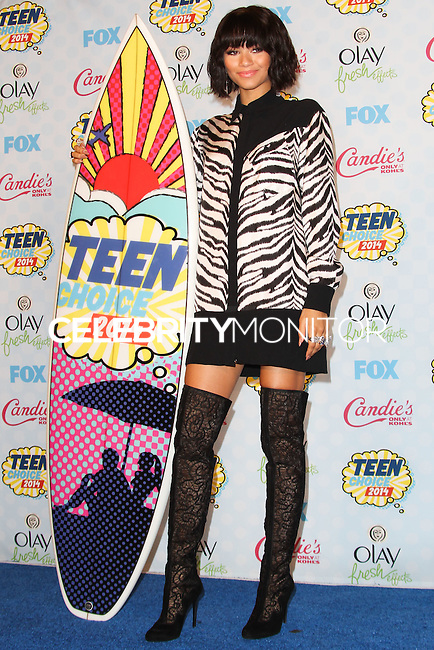 LOS ANGELES, CA, USA - AUGUST 10: Zendaya poses in the press room during the Teen Choice Awards 2014 held at The Shrine Auditorium on August 10, 2014 in Los Angeles, California, United States. (Photo by Celebrity Monitor)