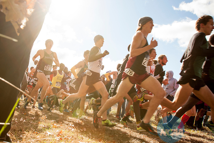 21 NOV 2015:  The Division II Men's Cross Country Championship is held at the Missouri Southern Cross Country Course in Joplin, MO. Shane Bevel/NCAA Photos