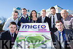 James O'Donoghue and Brian Looney launched the AIB Schools fitness challenge on the 20th April in aid of the Killlarney Micro Track back l-r: paul O'Neill, Padraig Daly, Kate O'Leary, Bobbie dwyer, Tomas Griffin and Johnny McGuire