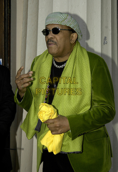 ROY AYRES.Bacardi B-Live Launch Party, Institute Of Contemporary Arts (ICA), The Mall, London, UK..May 31st, 2006.Ref: IA.half length green scarf jacket sunglasses shades hat.www.capitalpictures.com.sales@capitalpictures.com.©Capital Pictures