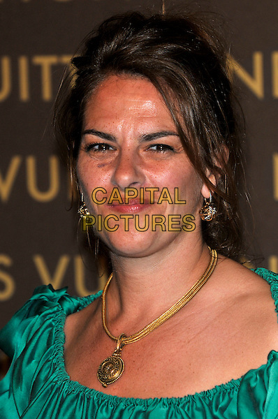 TRACEY EMIN .attends the launch of the Louis Vuitton Bond Street Maison Store in London, England, UK, May 25th, 2010. .portrait headshot green gold necklace earrings .CAP/PL.©Phil Loftus/Capital Pictures.