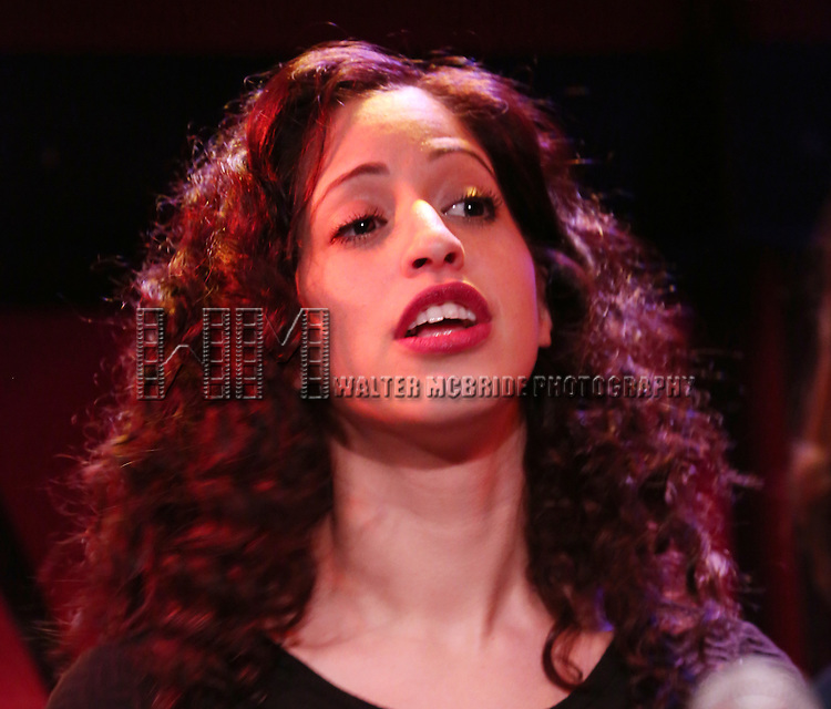 Aliya Stuart from the cast of 'One Day - The Musical' performing a sneak peek of the new pop-rock Musical at Rockwood Music Hall on January 28, 2015 in New York City.