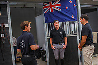 Daniel Meech, Bruce Goodin and Tom Tarver talk All Black Rugby Talk... 2019 NED-FEI Olympic Qualifier for Team Jumping - Group G. Topps International Arena. Valkenswaard. Netherlands. Monday 12 August. Copyright Photo: Libby Law Photography