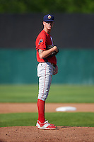 Williamsport Crosscutters starting pitcher Bailey Falter (9) gets ready to deliver a pitch during a game against the Auburn Doubledays on June 26, 2016 at Falcon Park in Auburn, New York.  Auburn defeated Williamsport 3-1.  (Mike Janes/Four Seam Images)