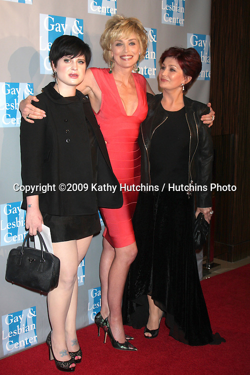 "Kelly & Sharon Osbourne, Sharon Stone arriving at the Gay & Lesbian Center ""An Evening With Women"" Gala at the Beverly Hilton Hotel in Beverly Hills, California on April 24, 2009.©2009 Kathy Hutchins / Hutchins Photo....                ."