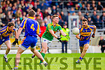 Denis Daly South Kerry in Action against Dara Crowley Kenmare in the County Senior Football Semi Final at Fitzgerald Stadium Killarney on Sunday.