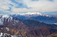 Snow in the High Atlas mountains at Oukaimeden near Marrakech, Morocco