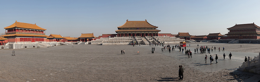 Panoramic image of Forbidden City, Beijing, China. (Stitched from 8 photographs)