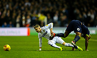 Leeds United's Ezgjan&nbsp;Alioski battles with Derby County's Andre Wisdom<br /> <br /> Photographer Alex Dodd/CameraSport<br /> <br /> The EFL Sky Bet Championship -  Leeds United v Derby County - Friday 11th January 2019 - Elland Road - Leeds<br /> <br /> World Copyright &copy; 2019 CameraSport. All rights reserved. 43 Linden Ave. Countesthorpe. Leicester. England. LE8 5PG - Tel: +44 (0) 116 277 4147 - admin@camerasport.com - www.camerasport.com