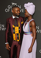 "20 September 2016 - Hollywood, California - David Oyelowo and Lupita Nyong'o. ""Queen Of Katwe"" Los Angeles Premiere held at the El Capitan Theater in Hollywood. Photo Credit: AdMedia"