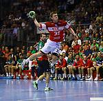 Jeffrey Boomhouver;  beim Spiel in der Handball Bundesliga, SC Magdeburg - Bergischer HC.<br /> <br /> Foto &copy; PIX-Sportfotos *** Foto ist honorarpflichtig! *** Auf Anfrage in hoeherer Qualitaet/Aufloesung. Belegexemplar erbeten. Veroeffentlichung ausschliesslich fuer journalistisch-publizistische Zwecke. For editorial use only.