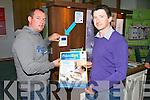 Alan O'Sullivan and Kieran O'Flaherty at the Bank of Irelands, Tralee, Show your Business, during National Enterprise week. They were demonstrating their FloodEye detection system.