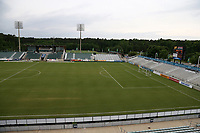 Cary, North Carolina  - Wednesday May 24, 2017: View of the northern half of the field of Sahlen's Stadium prior to a regular season National Women's Soccer League (NWSL) match between the North Carolina Courage and the Sky Blue FC at Sahlen's Stadium at WakeMed Soccer Park. The Courage won the game 2-0.