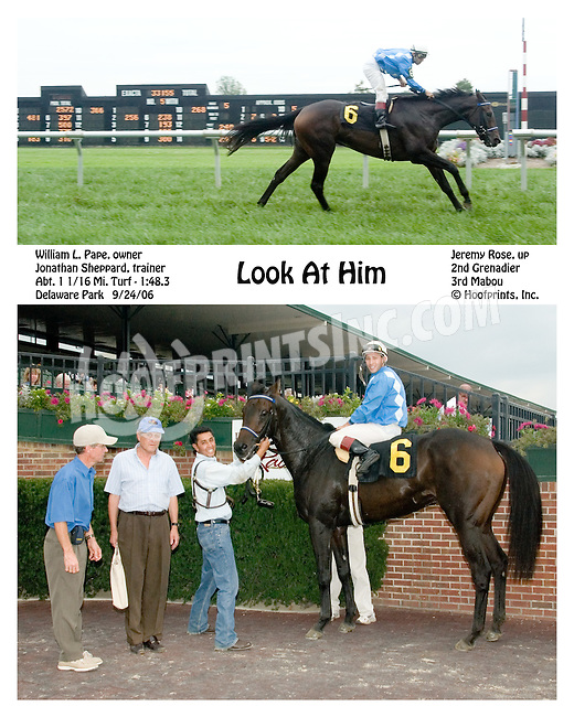 Look at Him winning at Delaware Park on 9/24/2006