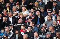 Swansea supporters during the Barclays Premier League match between Swansea City and Arsenal at the Liberty Stadium, Swansea on October 31st 2015