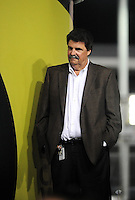 Nov. 20, 2009; Homestead, FL, USA; NASCAR president Mike Helton during the Ford 200 at Homestead Miami Speedway. Mandatory Credit: Mark J. Rebilas-
