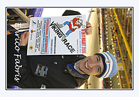 SPEEDSKATING: HEERENVEEN: 2006, Viking Race Poster, Enrico Fabris (ITA), ©photo Martin de Jong