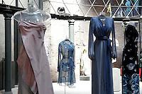 Giorgio Armani, Ken Scott, Gucci e Valentino<br /> Roma 03-04-2016 Terme di Diocleziano. Mostra 'In Acqua: H2O molecole di creativita'. Decine di stilisti hanno creato, per l'occasione, abiti, accessori e gioielli che richiamano l'acqua.<br /> Diocleziano Thermae. Exhibition 'In water: H2O molecules of creativity'.Tens of famous stylists created dresses, accessories and jewels that recall water.<br /> Photo Samantha Zucchi Insidefoto