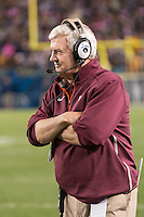 Virginia Tech head coach Frank Beamer. The Pitt Panthers defeated the Virginia Tech Hokies 21-16 at Heinz Field, Pittsburgh Pennsylvania on October 16, 2014