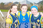 Enjoying a great time Nationl Schools Basketball Blitz at Mercy Mounthawk on Saturday front l-r: Niamh Myers, Courtney Ryan and Niamh Dillane.