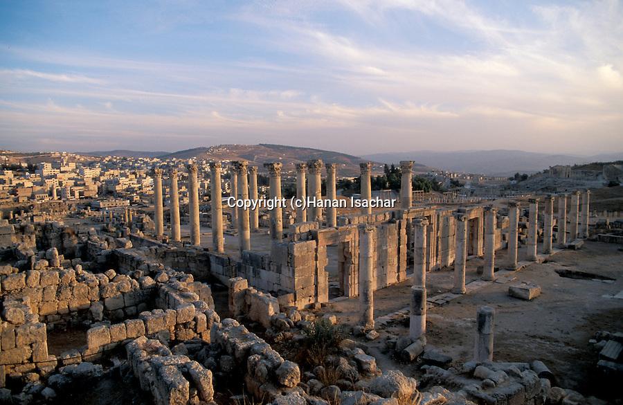 Jordan, Jerash. Remains of the Roman city&#xA;&#xA;<br />