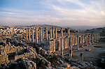 Jordan, Jerash. Remains of the Roman city&amp;#xA;&amp;#xA;<br />