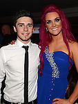 Vanessa McCowen pictured at her leaving party in Brú with boyfriend Graham O'Brien. Photo:Colin Bell/pressphotos.ie