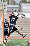 Torrance, CA 05/11/13 - Ben Klein (Harvard Westlake #27) in action during the Harvard Westlake vs St Margarets 2013 Los Angeles / Orange County Championship game.  St Margaret defeated Harvard Westlake 15-8.