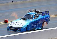 Aug 2, 2015; Sonoma, CA, USA; NHRA funny car driver Tommy Johnson Jr during the Sonoma Nationals at Sonoma Raceway. Mandatory Credit: Mark J. Rebilas-