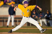 Relief pitcher Seth Simmons #31 of the East Carolina Pirates in action versus the Virginia Cavaliers at Clark-LeClair Stadium on February 20, 2010 in Greenville, North Carolina.   Photo by Brian Westerholt / Four Seam Images