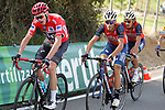 The group of favourites including race leader Chris Froome (GBR) Team Sky and Vincenzo Nibali (ITA) Bahrain-Merida during Stage 19 of the 2017 La Vuelta, running 149.7km from Caso. Parque Natural de Redes to Gij&oacute;n, Spain. 8th September 2017.<br /> Picture: Unipublic/&copy;photogomezsport | Cyclefile<br /> <br /> <br /> All photos usage must carry mandatory copyright credit (&copy; Cyclefile | Unipublic/&copy;photogomezsport)