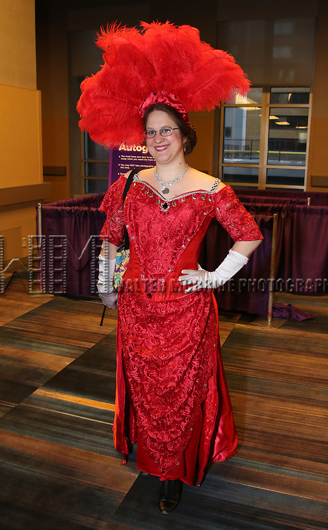 """Hello, Dolly!"" fan During the BroadwayCON 2020 First Look at the New York Hilton Midtown Hotel on January 24, 2020 in New York City."