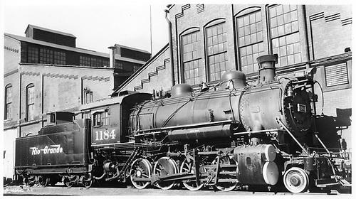 D&amp;RGW #1184 in Salt Lake City.<br /> D&amp;RGW  Salt Lake City, UT  5/3/1947