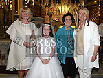 Olivia Harty who received her First Holy Communion in St. Peters Church pictured with mother Pamela, aunt Betty Norris and grandmother Sheila Halpin. Photo:Colin Bell/pressphotos.ie
