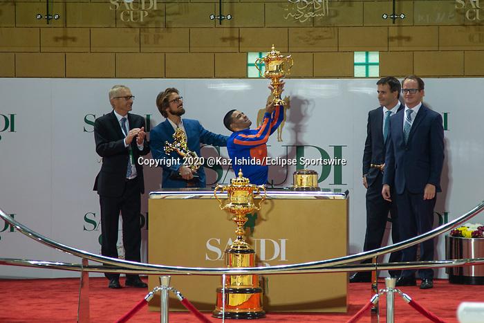RIYADH,SAUDI ARABIA-FEB 29: Winning ceremony after the Saudi Cup at King Abdulaziz Racetrack on February 29,2020 in Riyadh,Saudi Arabia. Kaz Ishida/Eclipse Sportswire/CSM